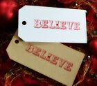 ★10 Christmas Gift Tags★Shabby Chic★Gift Wrapping★Handmade★Vintage★BELIEVE★