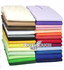 Fitted Valance Sheet Poly Cotton Plain Dyed Bed Sheets Single Double Super King