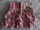 NWT Girl's Gymboree Bright Tulip pink green adjustable skirt skorts ~ 4 8