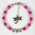 New Girls Personalised Dragonfly Dragon Fly Charm Bracelet Jewelry Jewellery