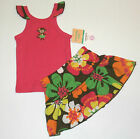 NWT: New Carter's Pink Monkey & Floral Skirt Outfit 3, 6 or 9 Month Rtls $22