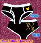 Sexy BOY BRIEF I Love House Music Glow In The Dark logo rave WMC ultra Zoo