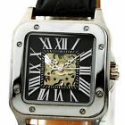 NEW Automatic Mechanical Men Leather Hollow Fashion Wrist Watch Roman Numerals