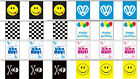 FLAG BUNTING 900CM, 8 DESIGNS I LOVE VW, ACID SMILEY, HAPPY FACE, PIRATE