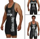 Wrestling singlet MAT WARS with custom text area on the back included in price