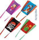 CHILDRENS POCKET PALS SLED KITE. 4 DESIGNS. FAIRY, PIRATE, DINO & DOG