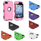 Black/White/Blue/Pink/Red/Orange Hybrid Heavy Duty Case For iPod Touch 4th 4 Gen