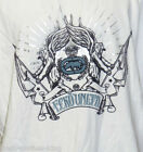 ECKO UNLIMITED Shirt New Mens Dominion Crest Crew White Tee Size 2XL