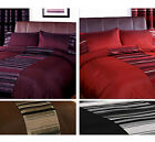 Striped Duvet Quilt Cover - Contemporary Chenille Bedding Bed Set