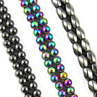 """16"""" Strand Magnetic HEMATITE Round BEADS - 4mm, 6mm, 8mm and 6x9mm"""