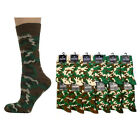 CAMO/CAMOUFLAGE Mens/Unisex Cotton-Rich Socks 6-11, army/khaki/military/punk