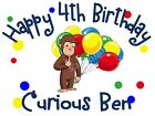 Внешний вид - Curious George Personalized Birthday T-shirt Custom Tee