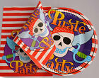 Pirate Party Paper Plates, Napkins, Loot Bags Filler Bag supplies,Cutlury,