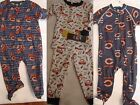 NFL TEAM APPAREL 2T 6-9 or 12 Month Pajama Sleepwear Choice NWT Chicago Bears