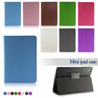 iPad Mini PU Leather Ultra Thin Smart Case Cover with Sleep Wake Folio Stand