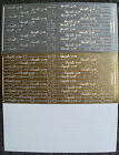 WOODWARE OUTLINE STICKERS PEEL-OFFS 1 SHEET GOLD, SILVER, BLACK OR WHITE NEW