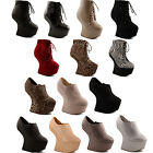 New Ladies Party Ankle Shoe Boot High Heel Less Platform Wedges Size 3 4 5 6 7 8