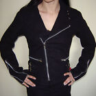 New Gothic Metal Industrial Goth Punk Tripp NYC Black Moto Motorcycle Jacket