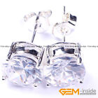 8mm Diamond section cut clear crystal pave shine stud earrings fashion jewerly