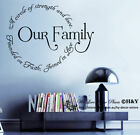 Removable Wall Art Quotes Vinyl Decal Sticker Home Decor Mural ~ Family Circle~