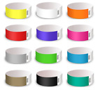 19mm Wide. Tyvek Wristbands. Packs of 10, 50, 100, 200, 300, 500.