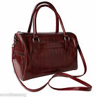 Genuine Eel Skin Leather Boston Bag Cross-Body Bag Top Handle Handbag