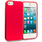 Color Clear Transparent TPU Plain Rubber Skin Case Cover for Apple iPhone 5 5G
