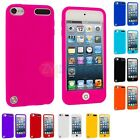 Color Button Covered Silicone Rubber Skin Case Cover for iPod Touch 5th Gen 5G
