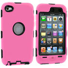 DELUXE COLOR BLACK 3-PIECE HARD-SKIN CASE FOR IPOD TOUCH 4 4G 4TH GEN PROTECTOR