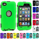 DELUXE COLOR BLACK 3-PIECE HARD/SKIN CASE FOR IPOD TOUCH 4 4G 4TH GEN+PROTECTOR