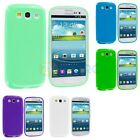 TPU Jelly Solid Rubber Color Skin Case Cover for Samsung Galaxy S III S3 Phone