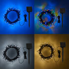 50 / 100 LED Solar Powered Garden Patio Outdoor Fairy String Lights, 4 Colours