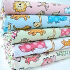 JUNGLE FRIENDS - NOVELTY PASTEL KIDS CHILDREN ANIMAL DOTTY  POLY COTTON FABRIC