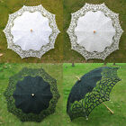 Exquisite Battenburg Lace Wedding Parasol Umbrella Floral Bridal Shower Decor