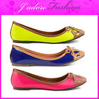 NEW LADIES DOLCIS PATENT FLATS BALLERINAS  BOW DOLLY SHOES SIZES UK 3-8