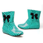 Womens Ladies Rain Boots Fashion Lovely Polka Dot Sports Fashion Ankle Boots
