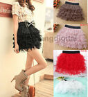 2014 New Sexy Ladies Girl Tulle Tutu Gauze Tier Layered Cake Mini Skirt