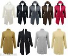 NEW HOODED/ TURTLE NECK CARDI - 16/18, 20/22, 24/26 - BLACK BROWN GREY TAUPE RED