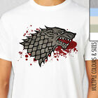 GAME OF THRONES HOUSE STARK T-Shirt. Multiple Colours & Sizes.
