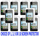 1, 3, 5 OR 10 Clear Screen Protector For TracFone LG 840g LG840g Prepaid Phone
