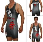 Zombie wrestling singlet with custom text included, youth and adult avilable