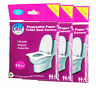 More images of TRAVEL ESSENTIAL,DISPOSABLE PAPER TOILET SEAT COVERS,3 PACKS(30pcs),HYGIENIC,NEW