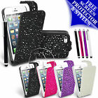 SHINY BLING DIAMOND LEATHER CASE FLIP CASE COVER FOR APPLE IPHONE 5 5G