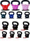 New MTN Vinyl Coated Cast Iron or Solid Cast Iron Kettlebells Weight Dumbbells