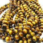 "15.5"" 4MM 6MM 8MM 10MM 12MM 14MM 16MM Natural Tiger's Eye Gemstone Round Beads"