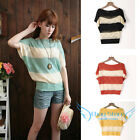New Women Knitted Batwing Hollow Casual Loose Pullover Sweater Shirt Jumper Tops