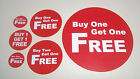 Promotional Display Stand Point Of Sale Stickers / Labels / Price Point BOGOF