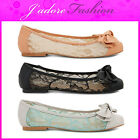 NEW LADIES DOLCIS LACE FLATS   BOW DETAIL DOLLY  BALLERINAS SHOES SIZES UK 3-8