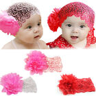 1Pc Sweet Baby Girls Infant Toddler Flower Bow Lace Headband Headwear Hair Band