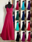 Stock Women's Bridesmaid Evening Party Formal Prom Dresses Size 6-8-10-12-14-16